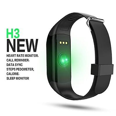 Mofek Fitness Tracker with Heart Rate Monitor,Waterproof Bluetooth Smart Watch Wristband Smartband Pedometer Tracker - Black