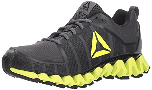 Reebok Men's ZigWild Tr 5.0 Running Shoe, ash Grey/Black/Electric Fabric, 12 M US