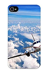 Cloud Defender Case For Iphone 4/4s, Super Airplane Photography Pattern, Nice Sky Case For Lover's Gift