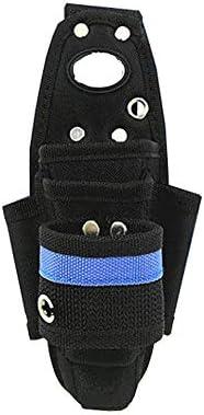 ツールベルト 技術者と電気技師のオックスフォード布ツールベルトツールエプロンツールオーガナイザーブラック 大工のエプロン (Color : Black, Size : 12x24.5cm)