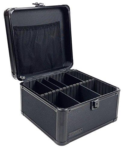 Vaultz Locking Storage Box with Key Lock, Train Case Interior, Tactical Black (VZ01036) ()