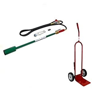 Bundle - 2 Items: Weed Dragon Torch VT2-23CSVC with Squeeze Valve - Includes CD100 Dolly (Propane NOT included)