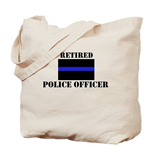 (CafePress Retired Police Officer Natural Canvas Tote Bag, Cloth Shopping Bag )