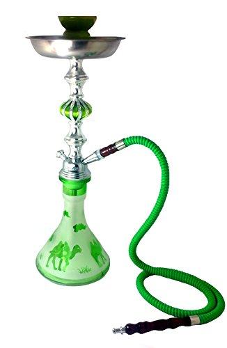 Zebra Camel (Zebra smoke: Camel- 1hose Hookah With tongs and bowl complete set (green))