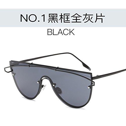De JUNHONGZHANG gris Moda Sol Damas negro De Sol Gafas Espejo Personalizado De Ligero todo Dorado Gafas Creativo Decoración Gafas Marco Integrado Gafas Marco rABCcrwPqx