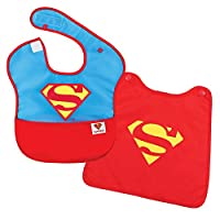 Bumkins DC Comics SuperBib with Cape, Superman (6-24 Months)