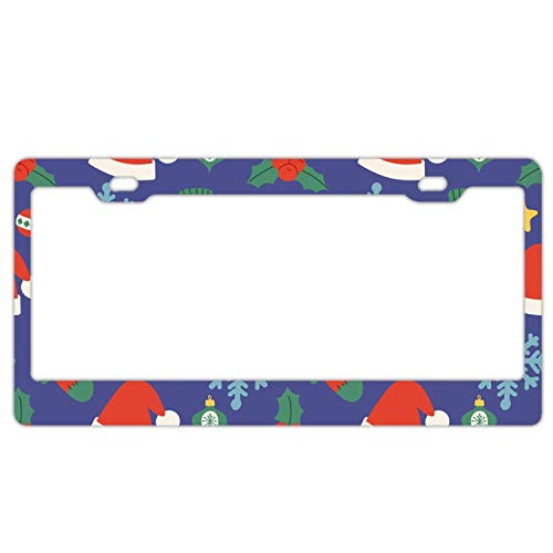 AUdddflsicenshf Happy Snowman Christmas License Plate Novelty Auto Car Tag Vanity Gift for Men