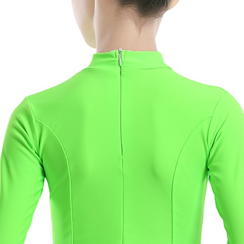 Embiofuels(TM) New Girls Candy Color Ballroom Tango Dance Costumes 3/4 Long Sleeve Dance Practice Clothing Turtleneck Toddler's Party Dress by Embiofuels (Image #3)