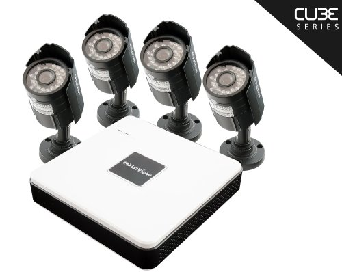 LaView Cube 4 Channel Compact Surveillance System with Cloud Storage, 4 x 600TVL Bullet Cameras (No HDD) - (4 Channel Compact Dvr)