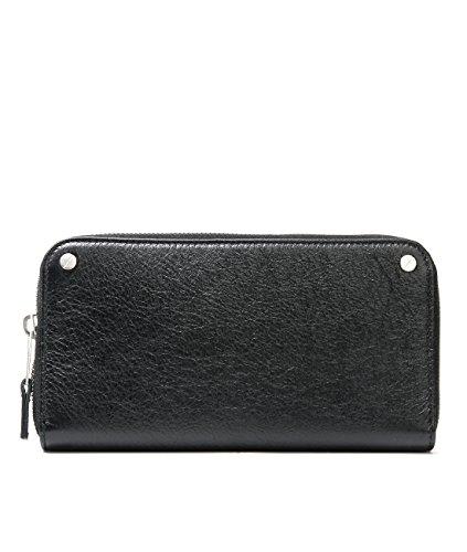Wiberlux Balenciaga Women's Rivet Detailed Zip-Around Real Leather Wallet