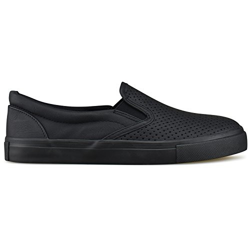 Fashion All Walking Casual Slip on Premier Easy Standard Women's Black Shoe Everyday qvn40HW