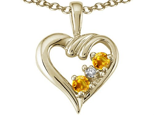 3 Mm Citrine Heart - 7