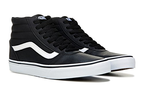 vans leather shoes black