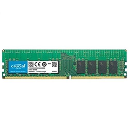 Crucial 16GB DDR4-2666 RDIMM - 16 GB (1 x 16 GB) - DDR4 SDRAM - 2666 MHz DDR4-2666/PC4-21300 - 1.20 V - ECC - Registered - 288-pin - DIMM