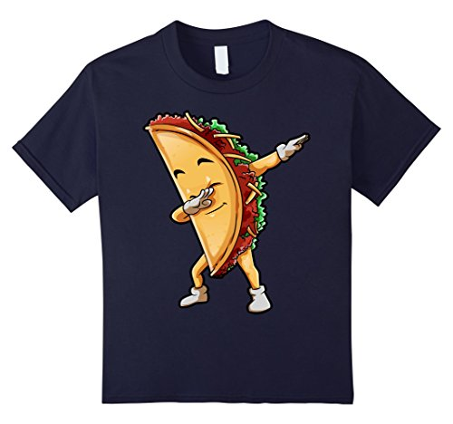 Kids Taco Dabbing T Shirt Mexican Food Lover Mexico Gifts Shirt 12 Navy