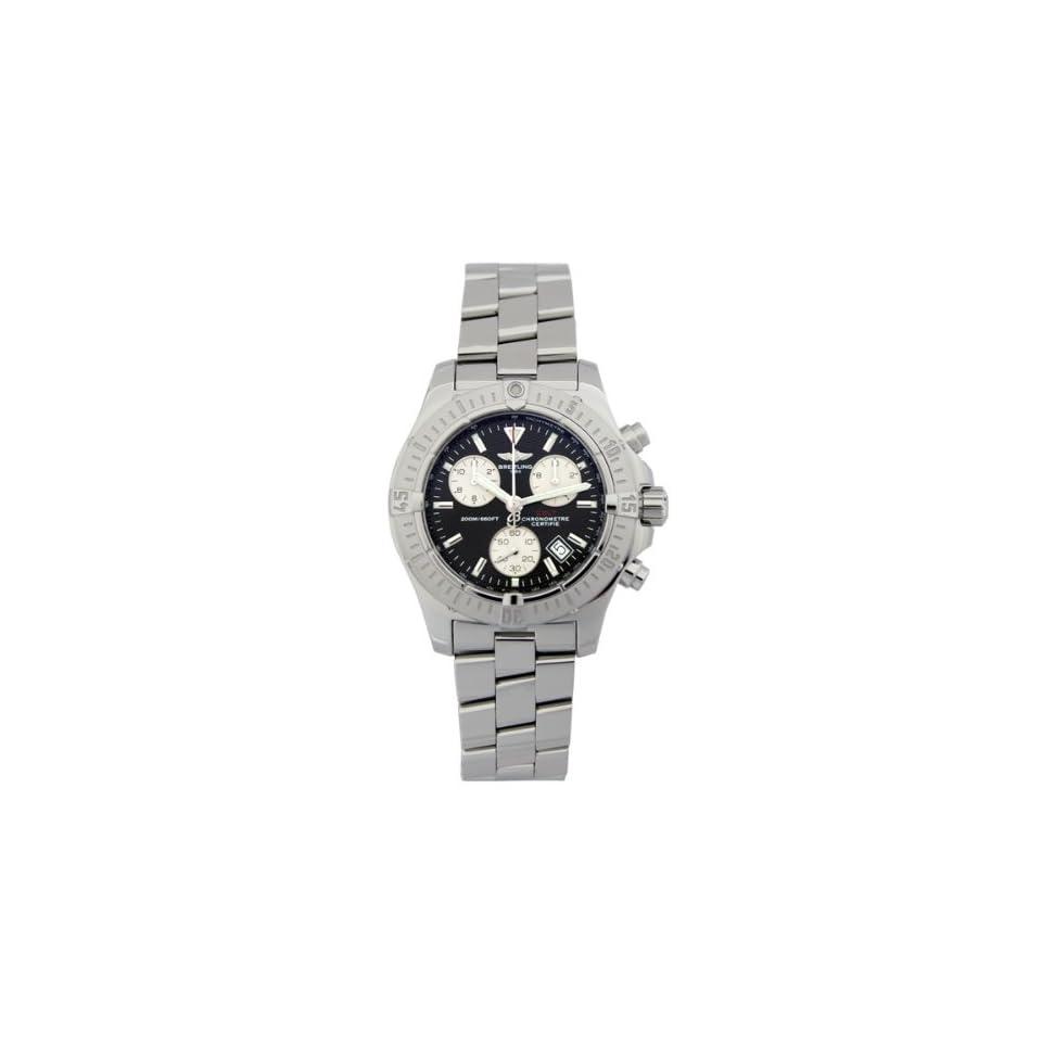 Breitling Aeromarine Chrono Colt Steel Black Mens Watch A7338011 B782SS