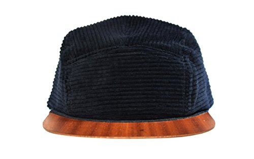 Cap Corduroy black with wooden visor - Made in Germany - Unisex - Lightweight & comfortable - One size fits all | Lou-i 5 panel - Germany Gucci