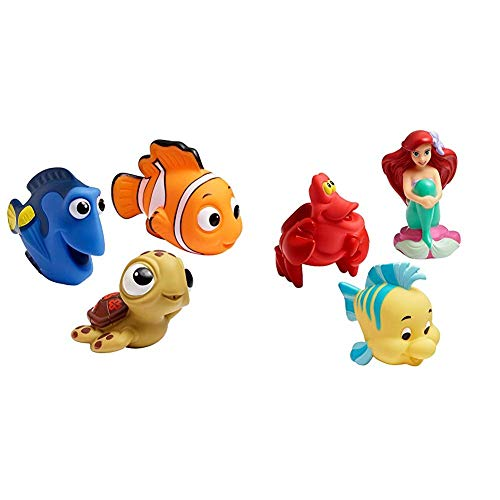 41riDOOnKvL - The First Years Disney Baby Bath Squirt Toys, Finding Nemo with Disney Baby Bath Squirt Toys, The Little Mermaid