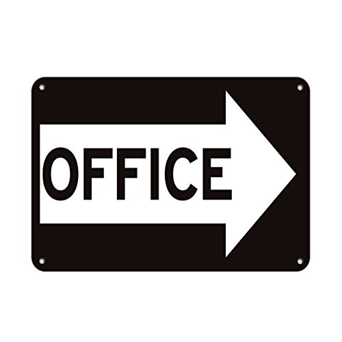 Office Right Arrow Business Sign Business Directional Sign Aluminum Metal Sign 24 in x 18 in Custom Warning & Saftey Sign Pre-drilled Holes for Easy mounting
