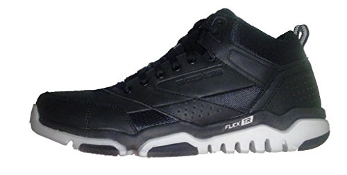 Skechers Mens Sport , Mid top Leather Trainer W/ AirCooled Memory Fome Black