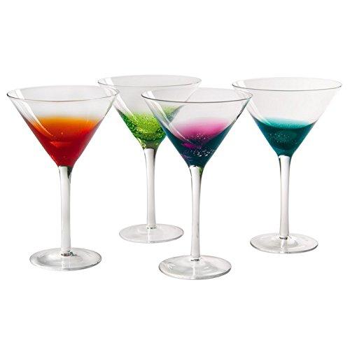 Artland Fizzy Martini, Multi-Colored, Set of 4