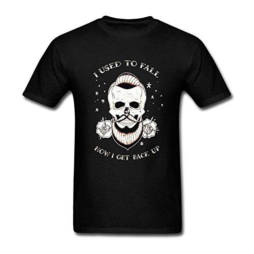 Feixia Men's Blue October DIY Cotton Short Sleeve T (Answer Short Sleeve T-shirt)
