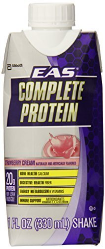 EAS Complete Protein Supplement, Strawberry Cream, 12 Count by EAS (Protein Complete Eas)