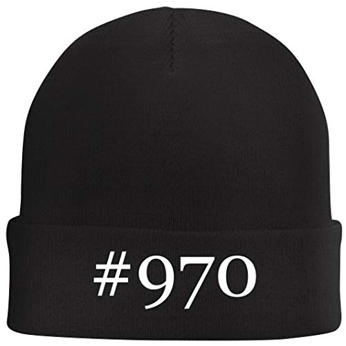 Tracy Gifts #970 - Hashtag Beanie Skull Cap with Fleece Liner, Black, One Size (Asrock 970 Extreme3 Motherboard)