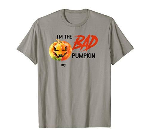 Bad Pumpkin Funny Halloween Costume Tshirt Pun -
