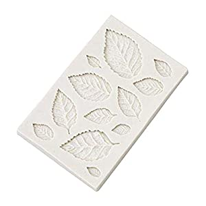 Hosaire - Stampo da pasticceria, pratico, in silicone, per gelato fondente 3D, a forma di foglie, bricolage, decorazione… 6 spesavip