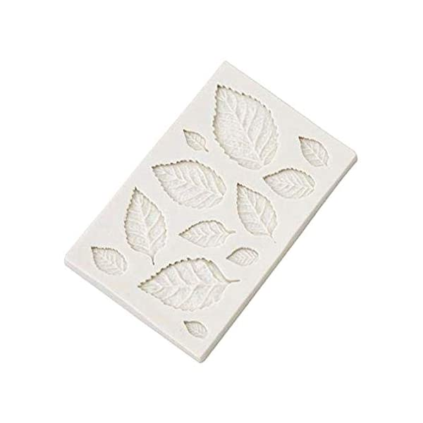 Hosaire - Stampo da pasticceria, pratico, in silicone, per gelato fondente 3D, a forma di foglie, bricolage, decorazione, mini stampi per sapone 1 spesavip