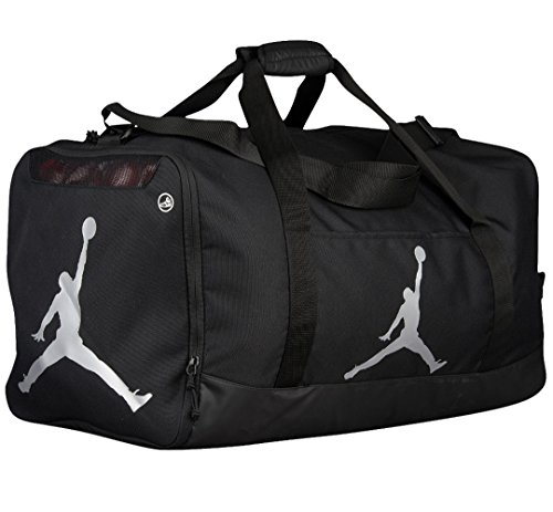 Nike Air Jordan Jumpman Trainer Duffel GYM Bag (Black/Silver) by NIKE