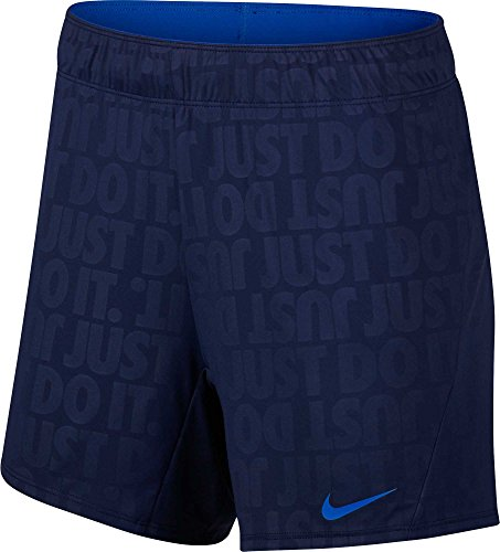 Nike Women's Dry Attack 5'' ˜Just Do It' Training Shorts (Binary Blue/Hyper Cobalt, Small)