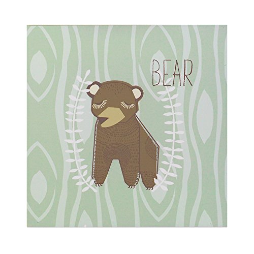 (Lolli Living Zig Zag Zoo Wall Plaque Bear)