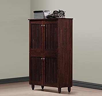 Good Narrow Shoe Cabinet For Entryway Wood Storage Organizer In Brown Oak  Includes A Sample Of Our