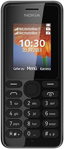 Nokia 108 Single Sim Einsteigerhandy mit Bluetooth Kamera Radio MP3 SMS lange Standbyzeit Sprechzeit Lange Standby (nur ein Simkartenschacht)