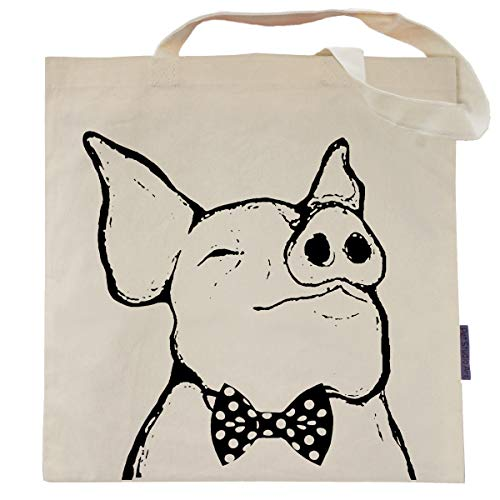 Nathan the Pig Tote Bag by Pet Studio Art ()