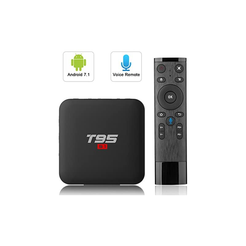 Android TV Box with 2.4G Voice Remote, T