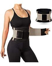 حزام تدريب الخصر للنساء، حزام للعرق مزود بمسامات للتهوية، لتشذيب وشد الجسم، ولتنحيف البطن عن طريق حرق الدهون، مناسب لتدريبات اللياقة البدنية المتعلقة بفقدان الوزن.