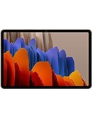 Samsung Galaxy Tab S7, tablet z systemem Android z rysikiem, WiFi, 3 kamery, duża bateria 8000 mAh, wyświetlacz LTPS, 11,0 cala, 128 GB/6 GB RAM, tablet w kolorze brązu