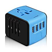 Universal Travel Adapter, All-in-one International Power Adapter with 2.4A 4USB, Europe Multifunctional Power Adapter…