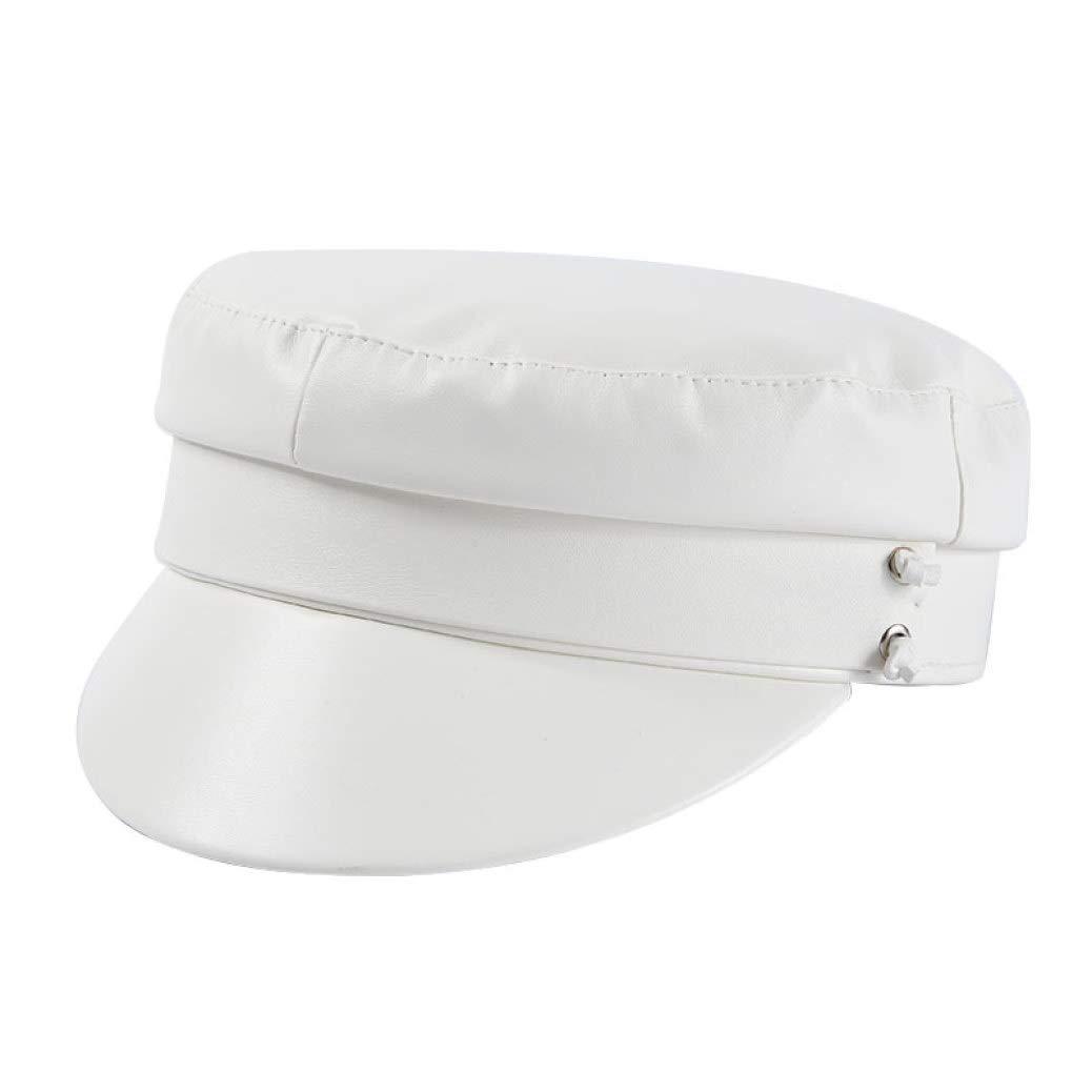 Gorra Newboy Redonda Vintage para Mujer Sombrero Plano Ajustable ...