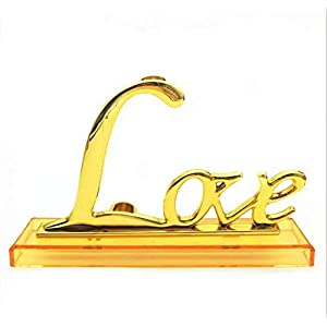 Tina Art 24K Gold Foil Trim Rose Flower Long Stem Love Stand Rose Holder Base 25