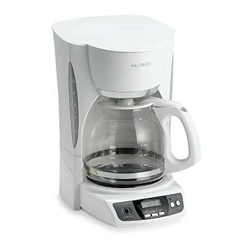 Mr Coffee 12 Cup Programmable Coffee Maker In White
