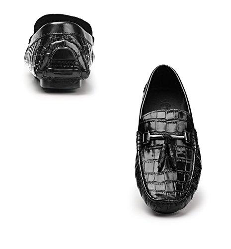 Chaussures Hommes Brillantes Décontractées GRRONG Black Black Chaussures Chaussures Hommes Décontractées Brillantes GRRONG Hommes GRRONG Chaussures gYxZRR