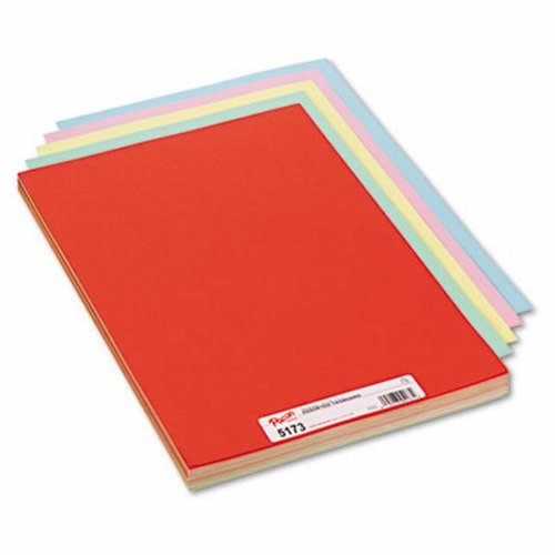 Mailers Canary - Pacon Assorted Colors Tag Board, 18 x 12 Inches, Blue/Canary/Green/Orange/Pink, 100/Pack (PAC5173)