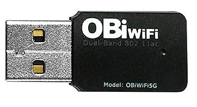 Obihai. Technology OBIWIFI5G OBiWiFi5G 2.4/5GHz Wireless 802.11AC Adapter for OBi200, OBi202, OBi1022, OBi1032, OBi1062 VoIP Phone and Device