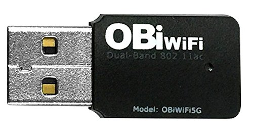 Obihai Technology OBIWIFI5G Obihai OBiWiFi5G 2.4/5GHz Wireless 802.11AC Adapter for OBi200, OBi202, OBi1022, OBi1032, OBi1062 VoIP Phone and ()