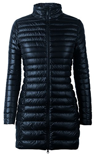 iLoveSIA Women's Ultra Lightweight Packable Down Jacket Navy Blue US Size 12