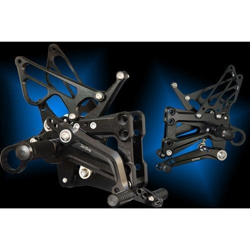 Sato Racing Billet Black Forward Up Rear Set for 09-12 BMW S1000RR ABS (BMW-S1RSFA-BK)